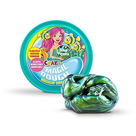 Craze 12826 Intelligente Superknete für Kinder Meerjungfrau Magische Knete, Magic Dough, Mermaid, ca. 80 g in Dose