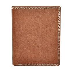 Chandair Pure Leather Dark Beige Brown Mens Wallet
