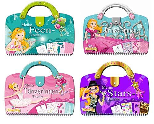 Kreativspaß Mädchen - 4 verschiedene Titel in einem Paket - Feen, Prinzessinnen, Tänzerinnen und Stars