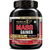 MuscleXP Mass Gainer - With 26 Vitamins & Minerals, Digestive Enzymes, Double Chocolate