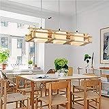 Eeayyygch Lampadario Moderno in Legno massello 3 Testa LED Lampada da soffitto Apparecchio a Sospensione per Sala da Pranzo Bagno Camera da Letto Soggiorno Decorazione (Colore : -, Dimensione : -)