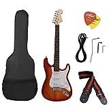 Telecharger Livres ammoon ST Guitare electrique Basswood Corps Palissandre avec Gig Sac Picks Sangle pour Debutant (PDF,EPUB,MOBI) gratuits en Francaise