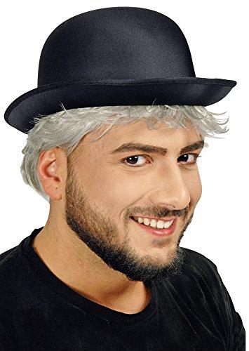 chwarz - Bowler zum 20er 30er Jahre Kostüm (Kostüm Bowler Hut)