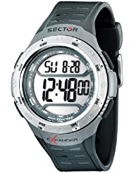 Sector Herren Digitale Armbanduhr mit LCD Dial Digital Display und schwarz PU Gurt r3251172008