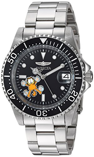 Invicta 24861 Character - Garfield Unisex Wrist Watch Stainless Steel Automatic Black Dial