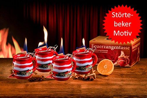 Preisvergleich Produktbild Feuerzangentasse 4er-Set für Feuerzangenbowle, Glühwein (Störtebeker)