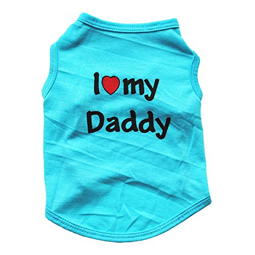 rmellose Weste für kleine Hunde und Welpen, mit Aufschrift I Love My Daddy Mommy ()