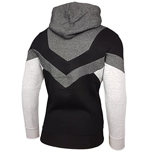 Kapuzenpullover Sweatshirt Sport Kapuze Sweat Hoodie Herren Pullover 19044 NEU Anthrazit