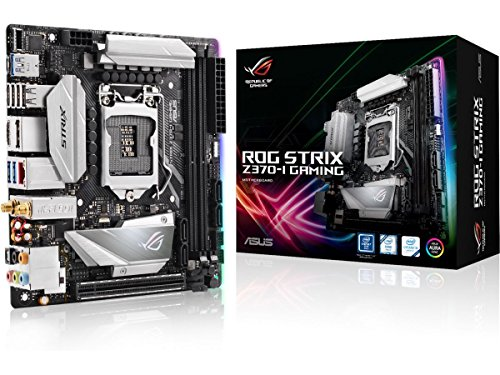 ASUS Intel 1151 Socket Z370 Chipset Strix I D4 Mini ITX Motherboard – Black