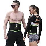 SZ-Climax La perdita di peso waist trimmer AB Belt, slim Body sudore Wrap per stomaco e posteriore supporto lombare per uomini e donne