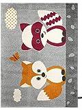 benuta Kinderteppich Best Friends Orange 80x150 cm | Teppich für Spiel- und Kinderzimmer