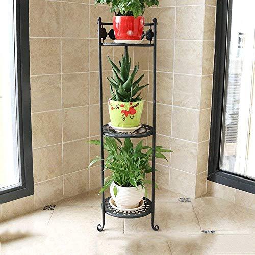 Vintage Displayregal Blumenständer Blumenregal Schmiedeeisen Multi-Boden-Stand-Topf-Rack Balkon...