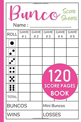 Bunco Score Sheets: Bunco Score Sheets With MINI Bunco - Pads, Cards, Game Kit, Party Supplies, Dice Game, Gift - Vol.3