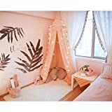 Ciel de lit Moustiquaire en coton pour petite Princesse anti-moustique Berceau Dôme château Tente de jeu en Suspension Décoration De Maison Hauteur de 240cm / 94.9 pouces (rose) (rose)