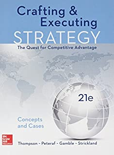 Crafting & Executing Strategy + Connect Access Card: Concepts and Cases (126018904X) | Amazon price tracker / tracking, Amazon price history charts, Amazon price watches, Amazon price drop alerts