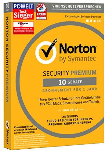 Preisvergleich Produktbild Norton Security Premium 2018 / 10 Geräte / 1 Jahr / PC / Mac / iOS / Android / Download