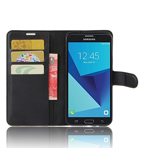 Accessories Collection Samsung Galaxy J7 2017 Book Style Leather Wallet Case With Stand Feature Includes Screen Protector & Touch Screen Stylus Pens