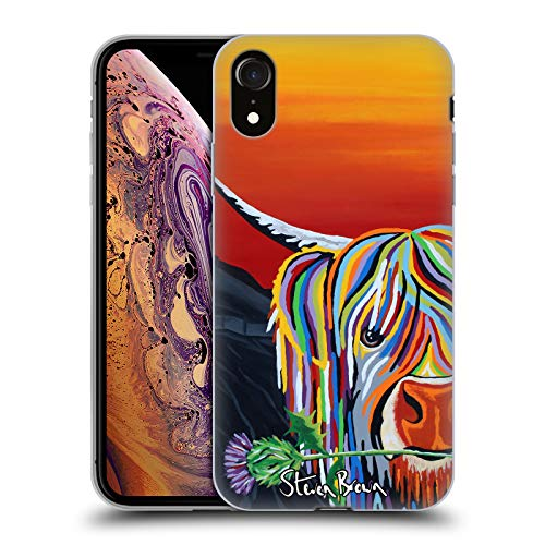 Price comparison product image Official Steven Brown Auld Scottie Mccoo Highland Cow Collection 2 Soft Gel Case for iPhone XR