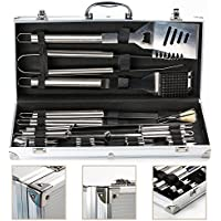 IBUYTOP BBQ Grill Tool Set Barbecue Grill Utensils Outdoor Grill Stainless Steel Accessories Grilling Tool Kit in Carrying Bag (17-Piece)