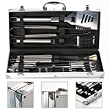 IBUYTOP BBQ Grill Tool Set Barbecue Grill Utensils Outdoor Grill Stainless Steel Accessories