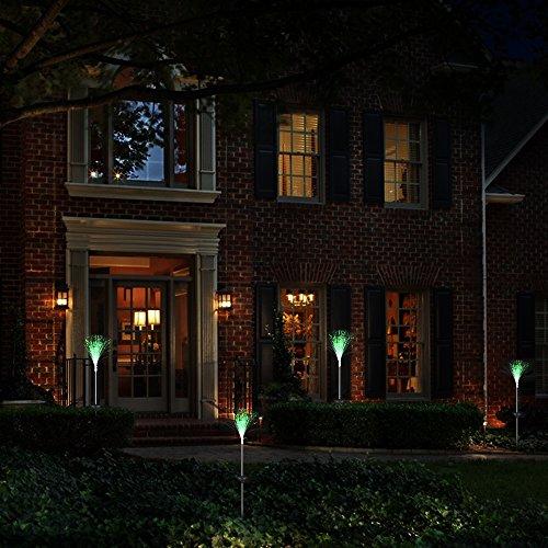2 Borne solaire solaires LED de filaments de fibre optique multicolore changement automatique 7 couleurs pour Cool parfaitement pour jardin terrasse Chillout balcons Restaurant cenadores de Open Buy