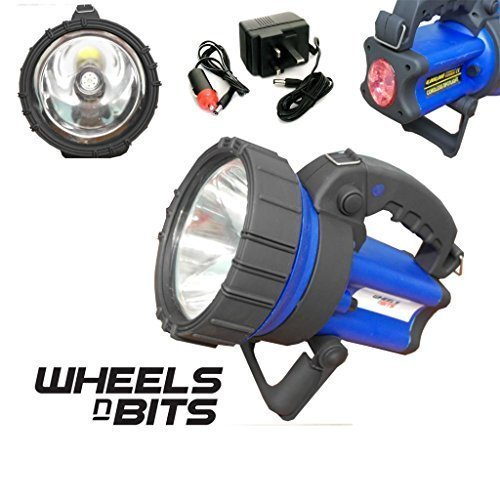 Wheels N Bits 5 WATT Cree Led Rechargeable Torch Spot lamp Breakdown Farming Fishing Camping