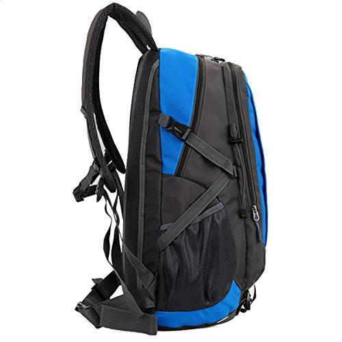 All'aperto arrampicata Viaggio Le spalle Campeggio A piedi Unisex Impermeabile Escursionismo indossabile Nylon Zaino (Blu) Nero