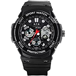 Dual sport watch/Waterproof digital watches/Simple casual watches-B