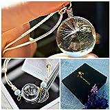Collana e bracciale di tarassaco set di gioielli Catena ARGENTO STERLING - Gioielli coordinati braccialetto di ciondolo pendente dente di leone regalo di compleanno