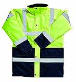 Blackrock Zweifarbige Arbeitsjacke, Herren, gut sichtbar, Gelb/Marineblau, Größe 5XL