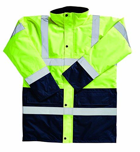 Blackrock Men's haute-visibilité deux couleurs Jaune/manteau XXXXXX-Bleu marine-Taille L