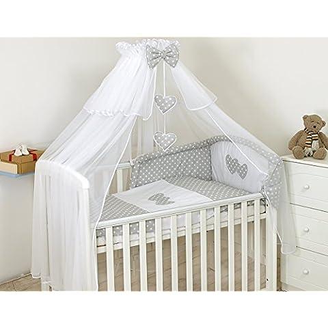 9pezzi Set di biancheria di lusso per letto per bambini 140x 70cm sole tetto cuscino copripiumino paracolpi–# 13