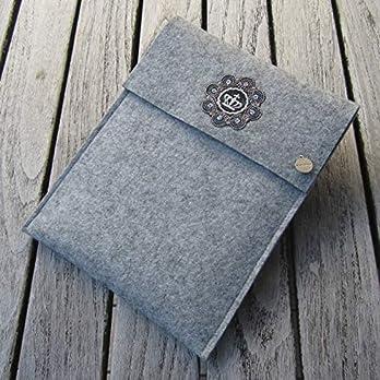 zigbaxx Tablet Hülle ROYAL Case Sleeve Filz u.a. für iPad 9.7, iPad Pro 9,7/10,5/11 Zoll (2018), iPad mini 2/3/4, iPad Air, 100% Wollfilz pink schwarz beige grau braun – Geschenk Weihnachten