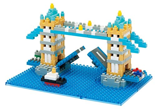2 Nanoblock Sets - Windmill Kinderdijk Tower Bridge in London