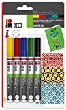 Marabu 012200081 - Deco Painter Basic 3-4mm 5er, sortiert
