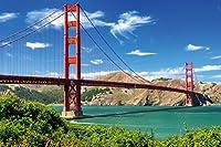 Embellissez votre maison avec ce motif de GREAT ART ® à couper le soufflé. Le Golden Gate Bridge à San Francisco! Le Golden Gate Bridge est un pont suspendu est le symbole de Californie. Pour beaucoups il est à coté de la Statue de la Liberté aussi u...