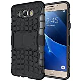 SnS Rugged, Armor, Defender, Hybrid Back Case Cover with Kickstand for Samsung Galaxy J7 J710 2016
