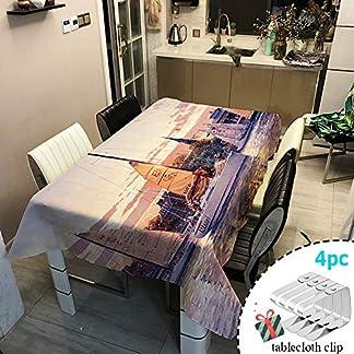 Odot Mantel Impermeable Antimanchas Tela de poliéster, decoración Resistente al Desgaste Lavable Apto, Distintos diseños y tamaños a Elegir, Ciudad y velero