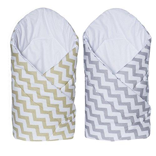Sevira Kids - Gigoteuse d'emmaillotage Multi-Usage en 100% coton - Nid d'ange naissance - ZigZag - différent coloris
