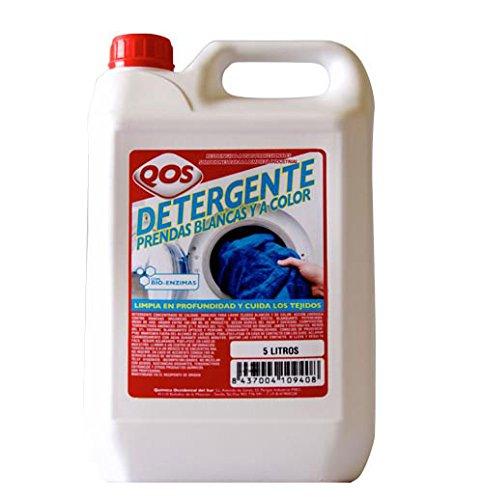 Detergente para ropa blanca y a color. Garrafa 5L. Especial para uso en lavanderías, hostelería y restauración. Limpia la suciedad en cualquier tipo de prenda
