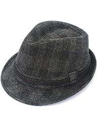 Los Hombres Otoño E Invierno Sombrero Retro Jazz A Cuadros Pequeño Sombrero  Sombrero De Fiesta Tapas f64e2ac9d2b