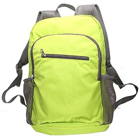 Leicht Faltbar Rucksack Tagesrucksack verstaubarer Reisetasche wasserabweisend robust für Wandern Camping Radfahren 20L,