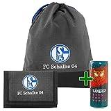 FC Schalke 04 Set Turnbeutel Geldbörse Fanartikel Merchandise + Fanergy Energy Drink