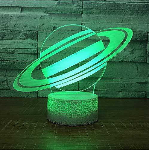 Nachtlicht Für Kinder 3D Illusion Nachtlicht, Touch Button Tisch Schreibtischlampe Mit 7 Farben Licht Für Weihnachten Halloween Geburtstagsgeschenk (Universe Planet)