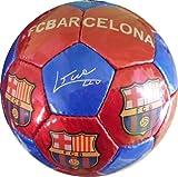 Fußball mit offiziellem Motiv des FC Barcelona und Spielerautogrammen, Rot/Blau, Größe 5