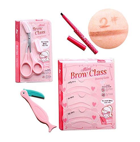 4 pièce maquillage définissez / professionnel maquillage sourcils, crayon marron