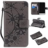 Samsung Galaxy J1 (2016) J120 Case, Danallc Luxury PU Leather Wallet Flip Protective Case Slim Case Cover With Card Slots And Stand For Samsung Galaxy J1 (2016) J120 Grey
