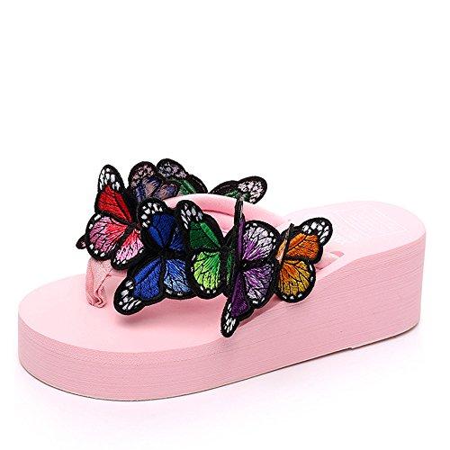 Estate Sandali Pattini handmade femmina di estate Pattini freddi della farfalla Pattini casuali della spiaggia di Anti-skid (formato, colore opzionale) Colore / formato facoltativo #2