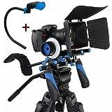 CAMSMART® DSLR Rig film Kit épaule Mont Rig + Follow Focus + Matte Box + régler la plate-forme + C forme Support Cage + poignée supérieure pour tous les appareils photo reflex numériques et caméscopes (SET VIII)