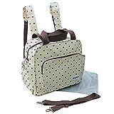GMMHL 2 tlg Baby Rucksack Wickeltasche Pflegetasche Windeltasche Babytasche Reise Farbauswahl (creme)